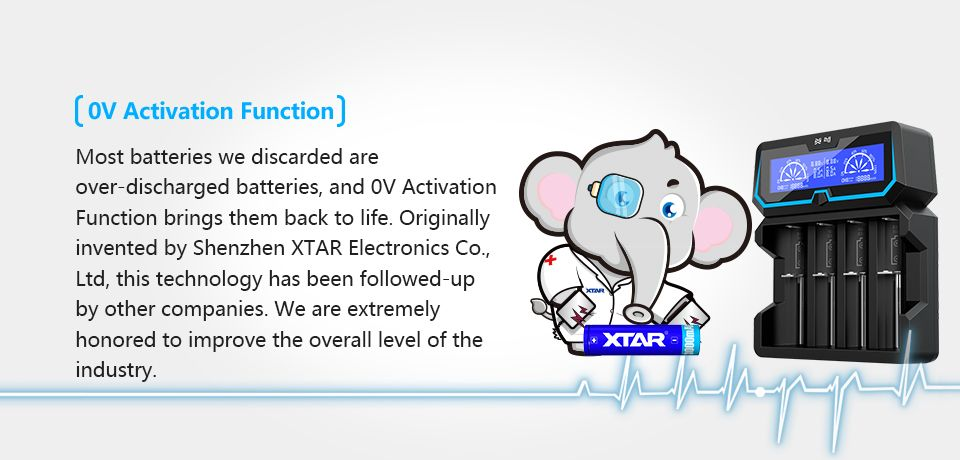 Xtar X4 univerzális Li-ion/Ni-MH/Ni-Co töltő